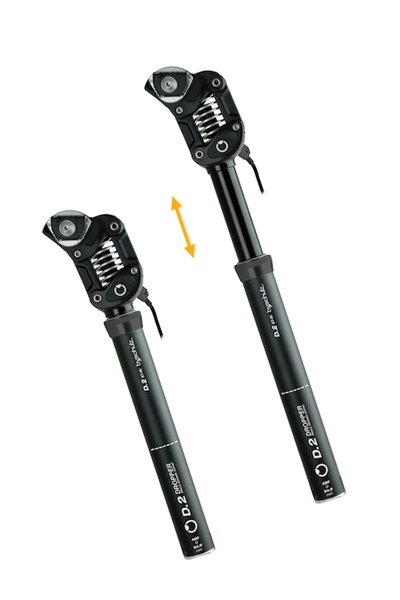 by.schulz seat post D.2ST Ro can be lowered sprung hard 100-130 kg, Travel 100 mm 30.9 mm 439 mm