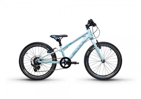 S´COOL liXe race 20 Aluminium 7-Gang icegrey/blue matt