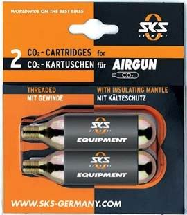 SKS CO2 Patronen for Airgun, Airboy, Airbuster 2 Stk