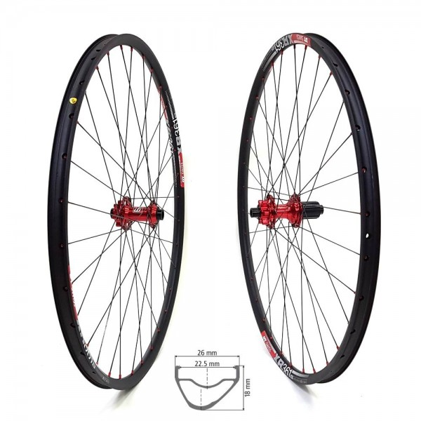 Fun Works N-Light One 48T DT Swiss XR 361 Comp Race Laufradsatz 650b 1530g