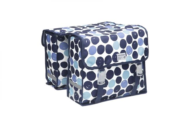 New Looxs Fahrradtasche Fiori Double Gepäckträgertasche Dots Blue