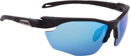 Alpina Brille Twist Five HR CM+ black matt Ceramic mirror+ blue