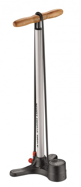 Lezyne Sport Digital Drive Stand Air Pump silver-metallic
