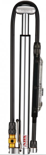 Lezyne Mini Pump CNC Micro Floor Drive Digital HPG silver glossy
