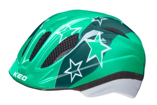 KED Meggy II Kinderhelm green stars