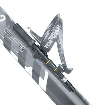 Topeak MicroShock Mini-Dämpferpumpe mit Rahmenhalter