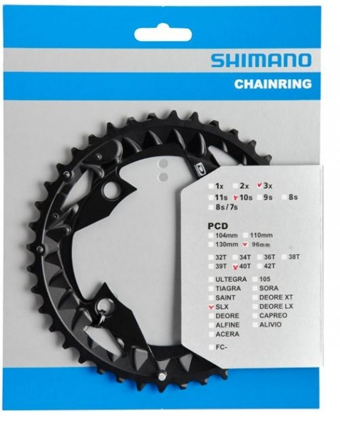 Shimano SLX FC-M672 10-fach Kettenblatt 22 / 30 / 40