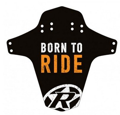 Reverse Mudguard Born to Ride fox orange