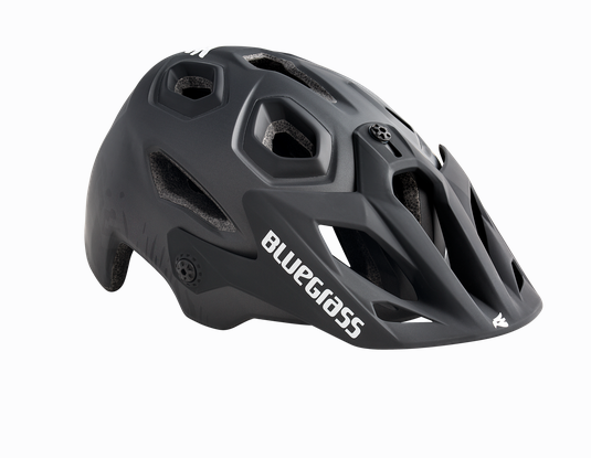 Bluegrass Golden Eyes Helmet Black Texture Safety Yellow
