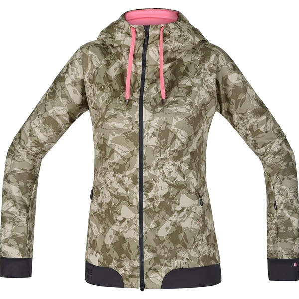Gore Bike Wear Power Trail Lady Print WS SO Hoody camouflage