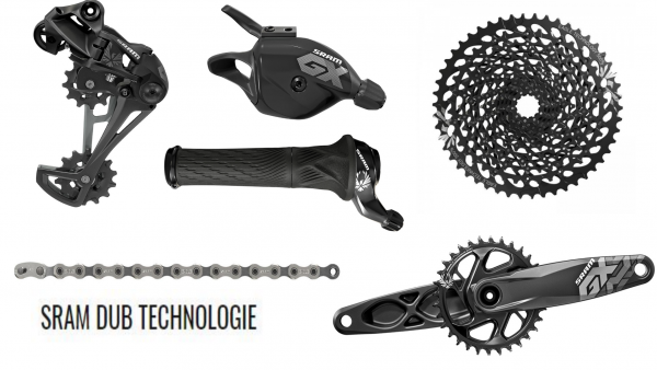 SRAM Groupset GX Eagle - DUB 1x12-speed - black - Boost