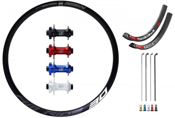 "Fun Works N-Light Boost Disc Custom Front Wheel MTB 27,5"""