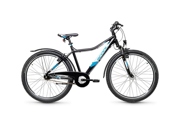 S'COOL trox urban 26 aluminum 7-speed black/blue matt