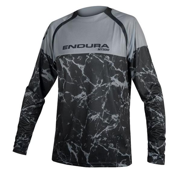Endura MT500 Marble L/S Jersey Langarmtrikot schwarz