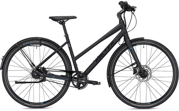"Falter City/Urbanbike U 7.0 Trapez S (45) 28"" Schwarz Matt"