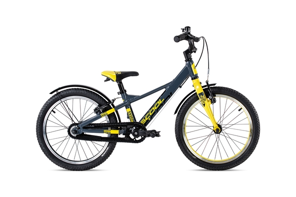 S´COOL XXlite 18 Evo Aluminium 1-Gang mit Freilauf darkgrey/yellow matt