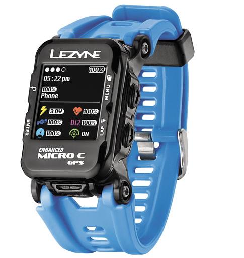 Lezyne Micro GPS Watch Color incl. HR cyan