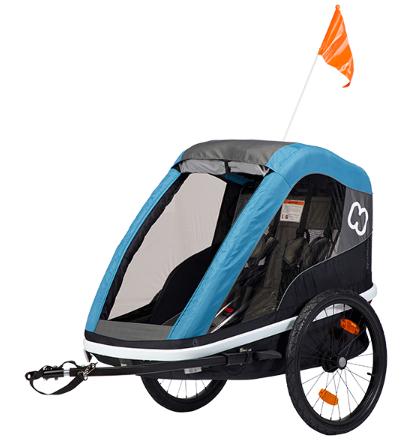 Hamax Avenida multifunctional children's bike trailer petrol blue
