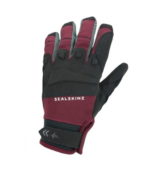 SealSkinz Glove All Weather MTB black/red