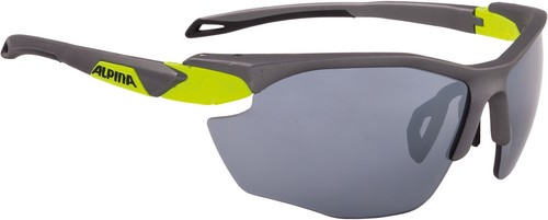 Alpina Brille Twist Five HR CM+ tin matt-neon yellow Ceramic mirror+ black