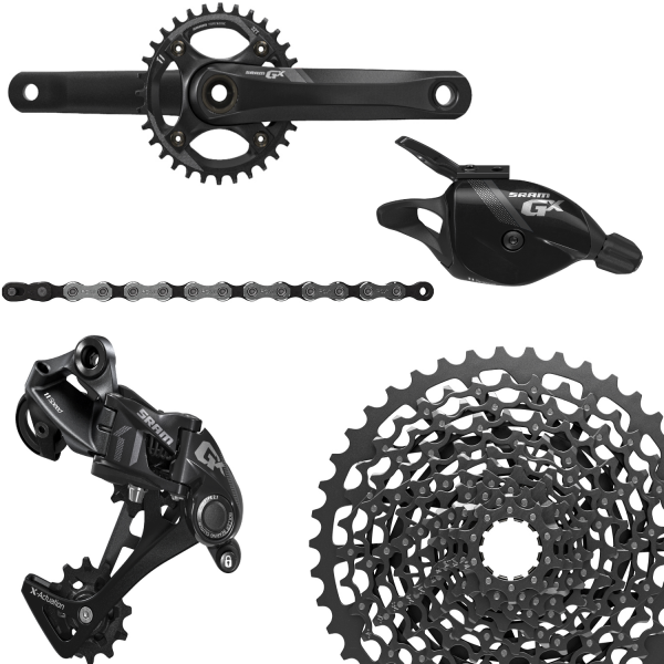 SRAM Groupset GX1 - 1400 GXP 1x11-speed, black