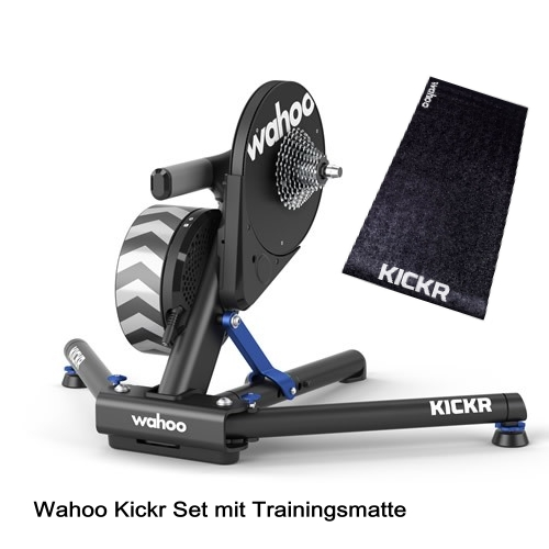 Wahoo Kickr 18 Smart Trainer Mod. 2018 Set mit Trainingsmatte