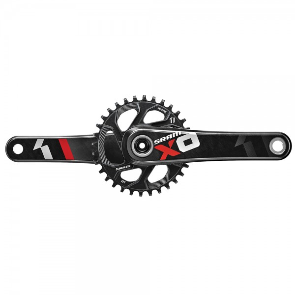 SRAM X01 Crank for BB30 with 32T directmount chainring - rot