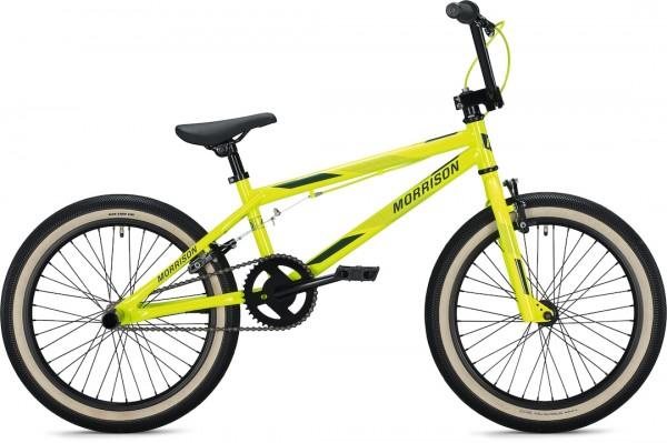 """Morrison B 10 BMX Bike 20"""" neon yellow-blue 26 cm"""