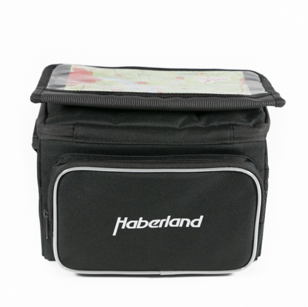 Haberland Handlebar Bag Classic incl. Klickfix Adapter black