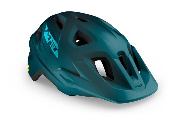 Met Echo MIPS Helm petrol blue/matt