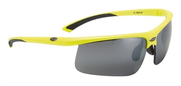 BBB Sportbrille Winner BSG-39 neongelb / rauchfarbene Gläser mit Wechselscheiben