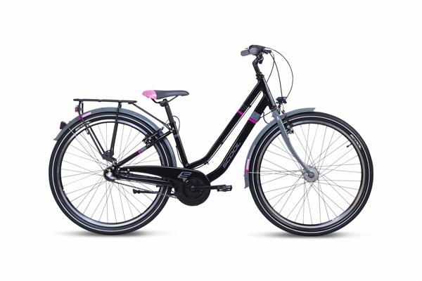 S´COOL chiX twin 26 alloy 3-speed black/pink