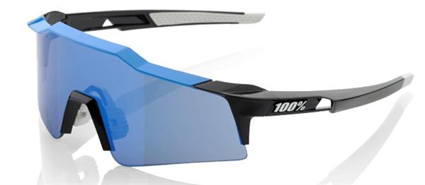 100% Speedcraft Sport Sunglasses (SL) - mirror lens - cyan / black