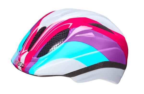 KED Meggy II Trend Kids Helmet rainbow rave
