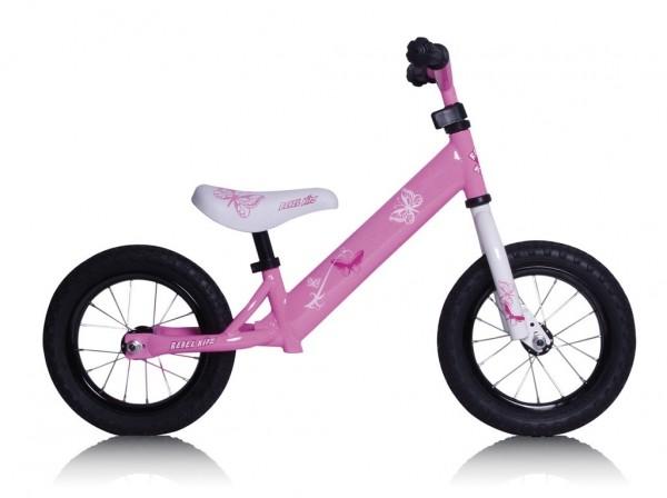 "Lernlaufrad Rebel Kidz 12,5"" Air - Stahl pink"