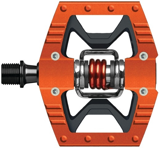 Crank Brothers Doubleshot Pedal - orange/schwarz