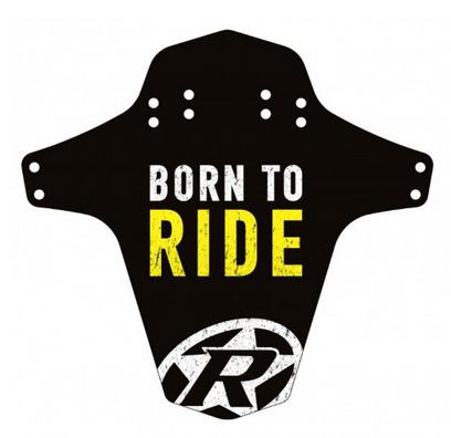 Reverse Mudguard Born to Ride yellow