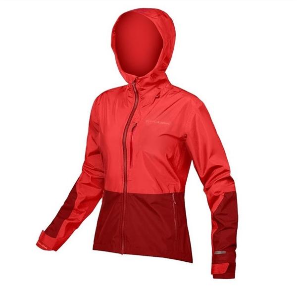 Endura WMS Singletrack Jacket waterproof hi-viz koralle
