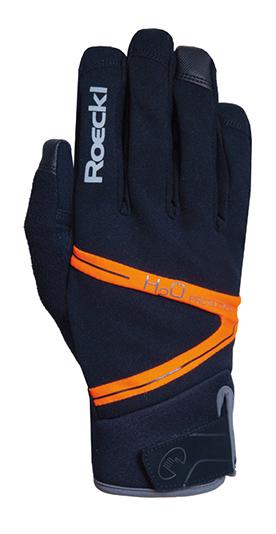 Roeckl Rhone Waterproof Handschuhe schwarz/orange