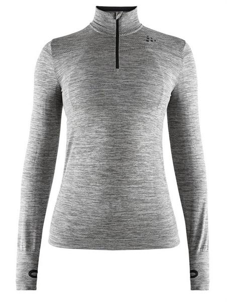 Craft Fuseknit Comfort Zip Women dark grey melange