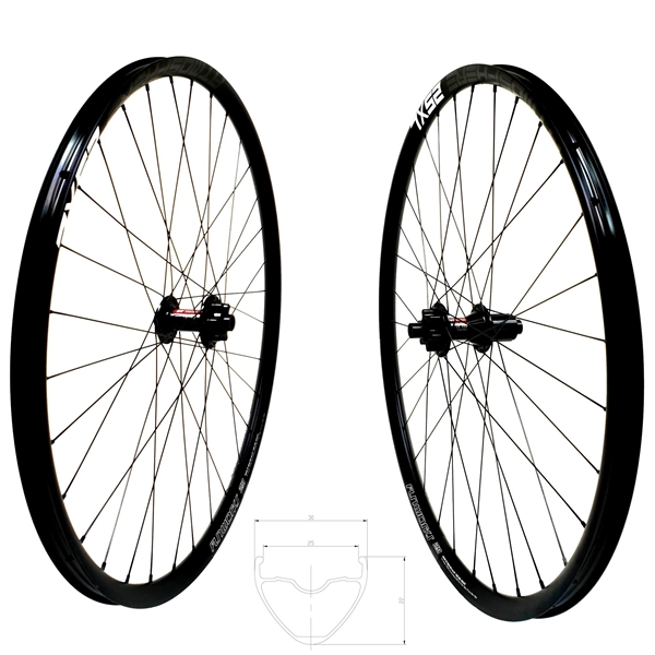 DT Swiss 370 Disc IS Atmosphere 25 XL Comp Race Wheelset 650b 1670g