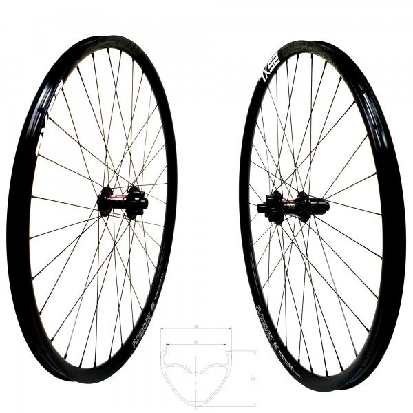 DT Swiss 370 Disc IS Atmosphere 25 XL Comp Race Wheelset 29er 1730g