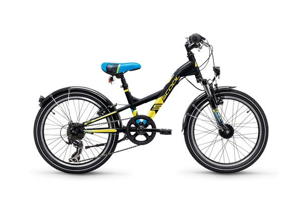 S´COOL XXLite 20 steel 7-speed black/yellow matt