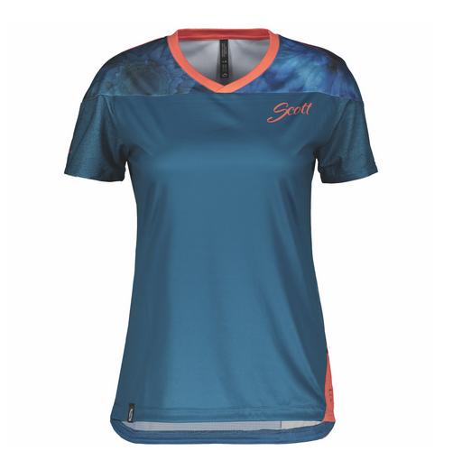 SCOTT Trail Flow s/sl Damen Shirt celestial blue/camellia pink