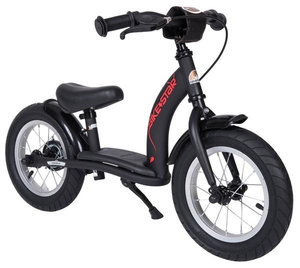 Bikestar Sicherheits-Kinderlaufrad Classic 12 Zoll teuflisch schwarz matt