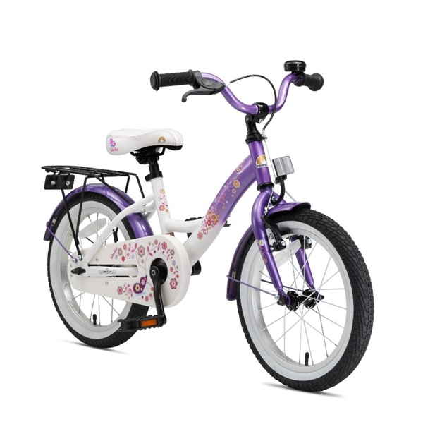 Bikestar Premium Kinderfahrrad Classic 16 Zoll candy lila & diamant weiß