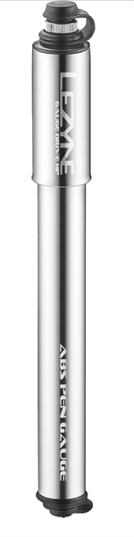 Lezyne Minipumpe CNC Gauge Drive HP-M silber glänzend