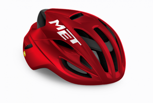 Met Rivale Mips Helm red metallic glossy