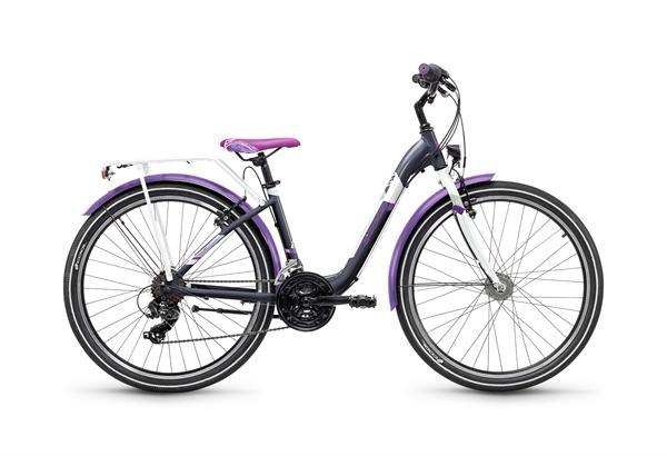 S´COOL chiX 26 Stahl 21-Gang darkgrey/violet
