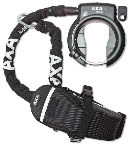 AXA Rahmenschloß Defender inkl. Kette und Tasche
